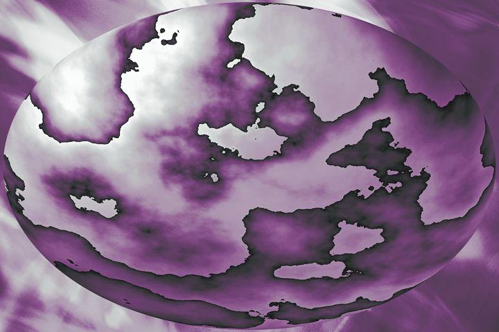 Purple Sphere - Timeless Art On Canvas