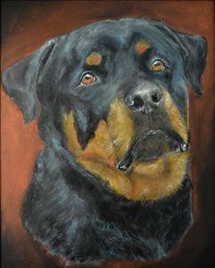 The Rottweiler - Timeless Art On Canvas