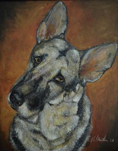 The German Shepherd - Timeless Art On Canvas