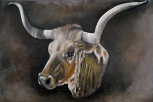 The Texas Longhorn - Timeless Art On Canvas