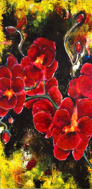 Red Flowers - Timeless Art On Canvas