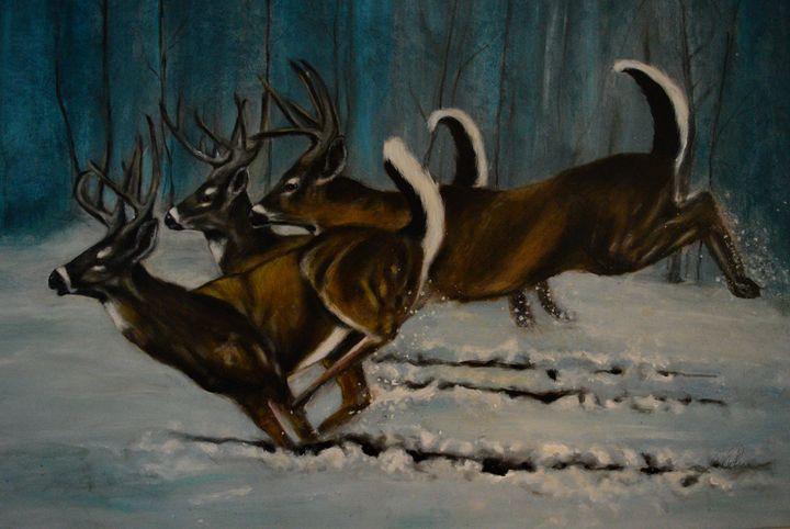 Three Deers - Timeless Art On Canvas