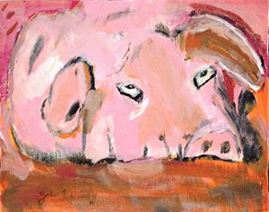 The Three Little Piggies (No. 2) - Timeless Art On Canvas