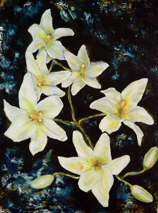 Floating Lilies - Timeless Art On Canvas