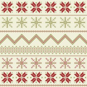 Winter Fair Isle Pattern - Arte De Encante