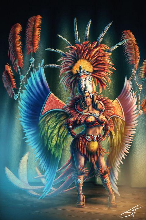 Carnival Queen of Rio - Jax Designs: The Art of Jaxon Keller