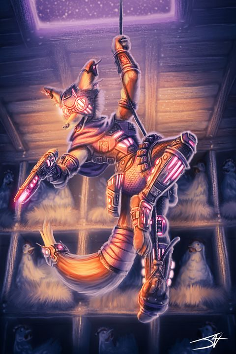 Cyberpunk Vixen Explorer - Jax Designs: The Art of Jaxon Keller