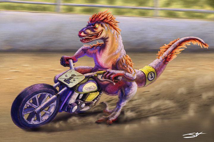 Dino Racer - Jax Designs: The Art of Jaxon Keller