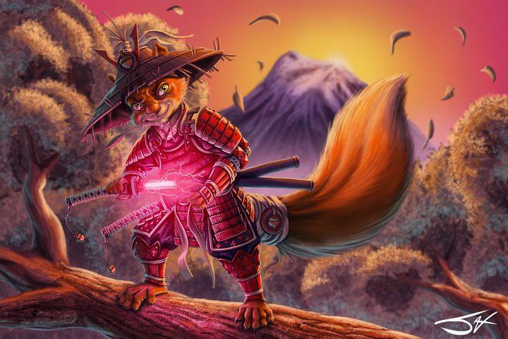 Samurai Squirrel - Jax Designs: The Art of Jaxon Keller