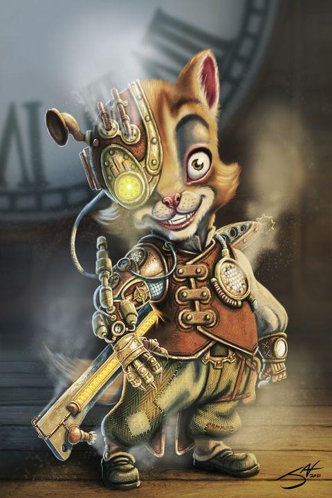 My Clockwork Kitten V1 - Jax Designs: The Art of Jaxon Keller