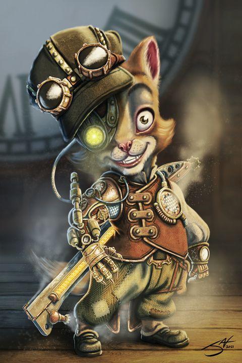 My Clockwork Kitten V2 - Jax Designs: The Art of Jaxon Keller