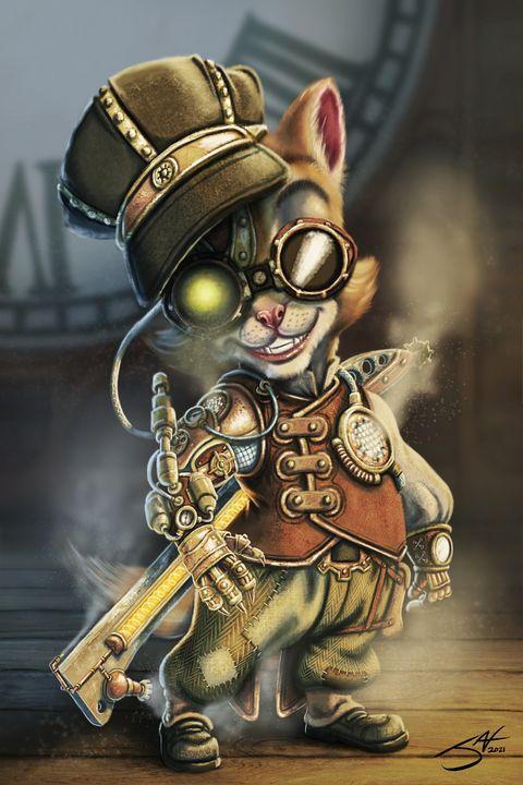 My Clockwork Kitten V3 - Jax Designs: The Art of Jaxon Keller