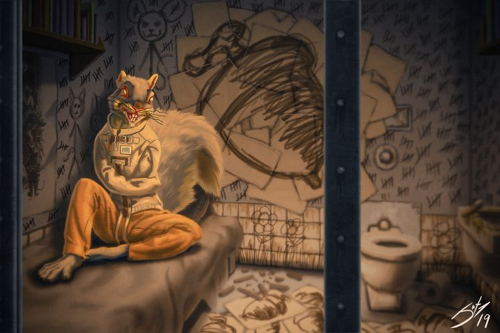 Psycho Squirrel - Jax Designs: The Art of Jaxon Keller