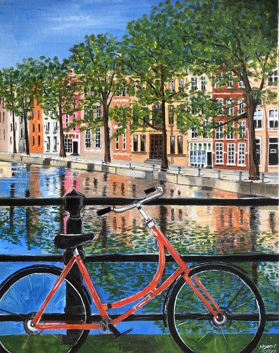 SUMMER IN AMSTERDAM - MaggieJukesArt