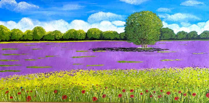 WILD FLOWERS AND LAVENDER - MaggieJukesArt