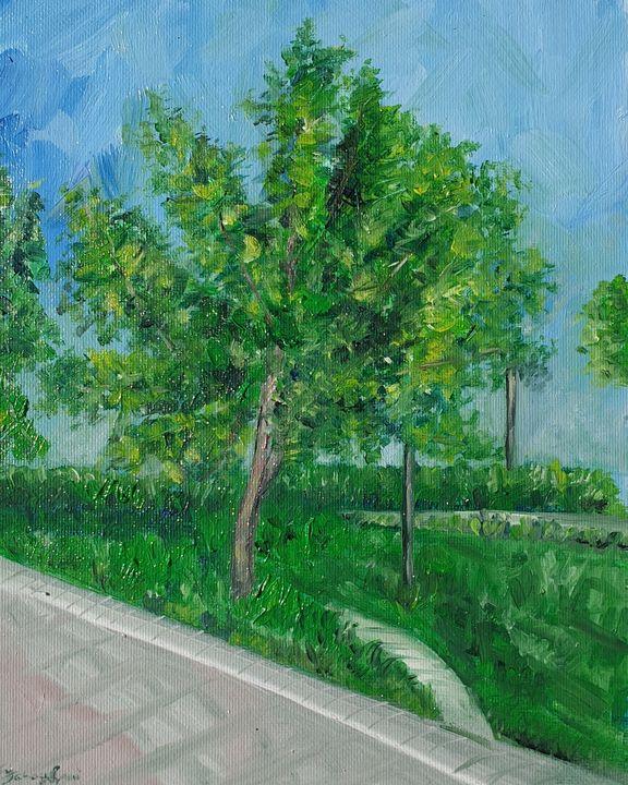 Free tree, Dubai walk - Paintings by Fatima YG