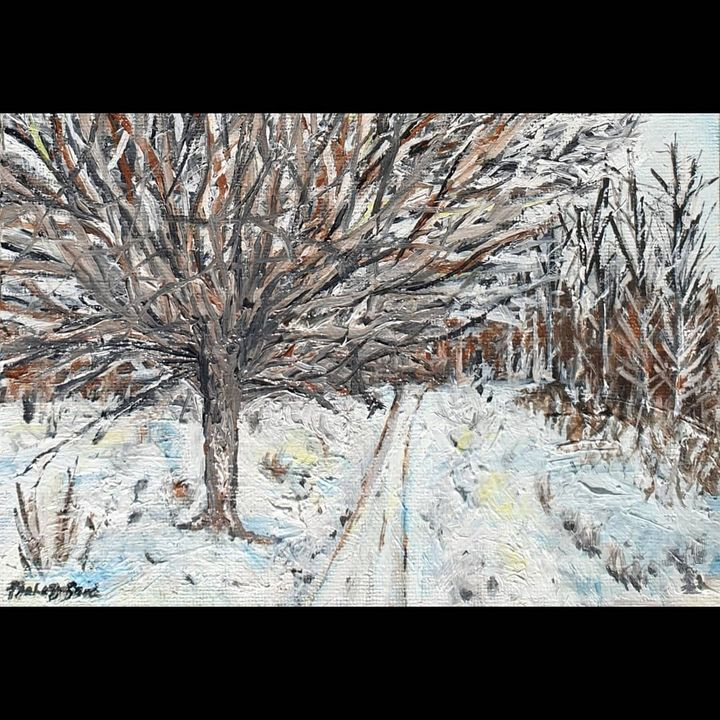 Barnet winter missed - Paintings by Fatima YG