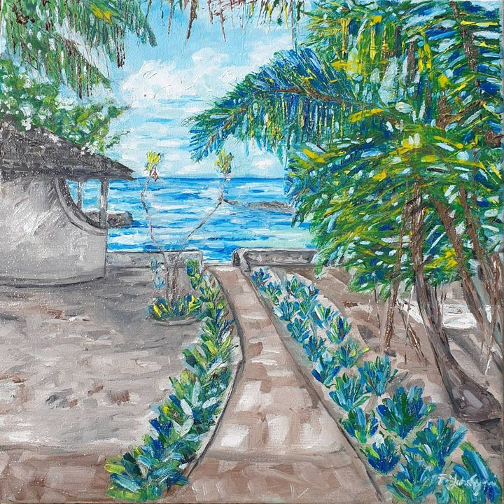 Beach serenity - Paintings by Fatima Yahaya - Gani