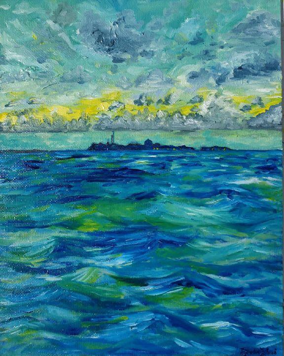 Afrique II - Sunshine place - Paintings by Fatima YG