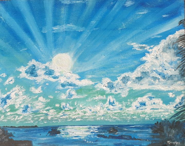 Dance of light,shadow,earth & water - Paintings by Fatima YG