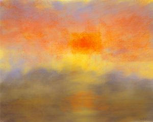 Sunset one : reflections of orange - Andy Carruth Art