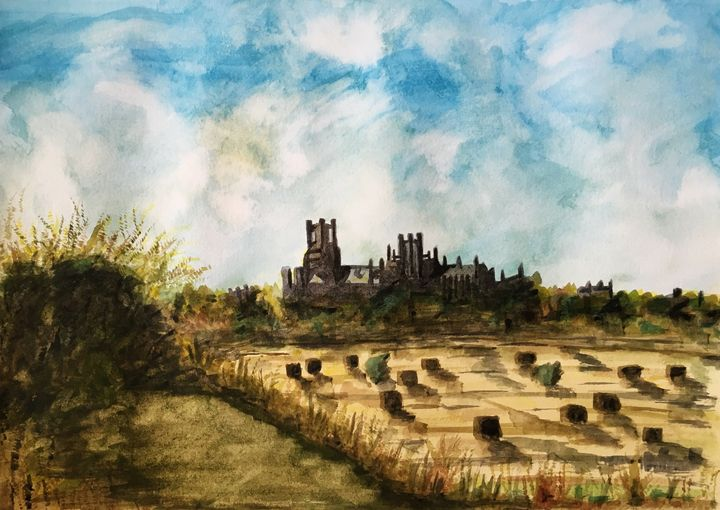 Ely Sunny Harvest time - Andy Carruth Art