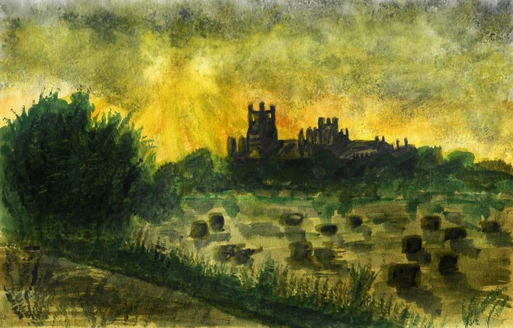Ely Storms at Harvest - Andy Carruth Art
