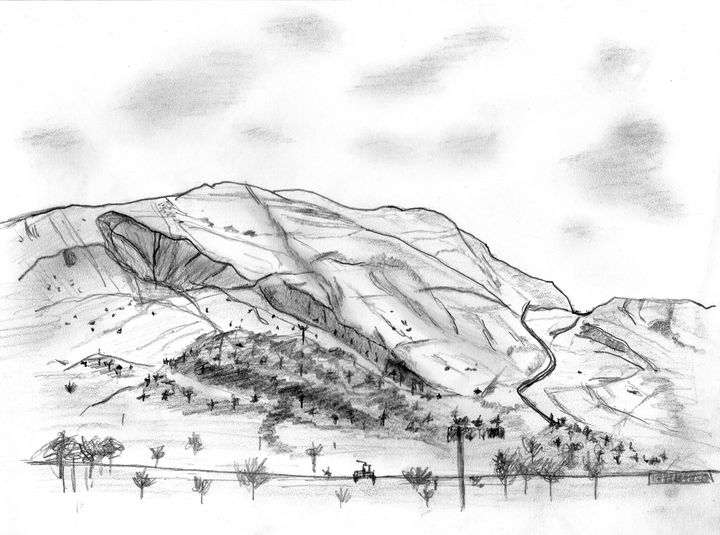 Mam Tor from Edale - AndyCarruthArt