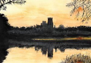 Ely Cathedral : Orange Skies
