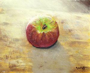 Apple in the sunlight