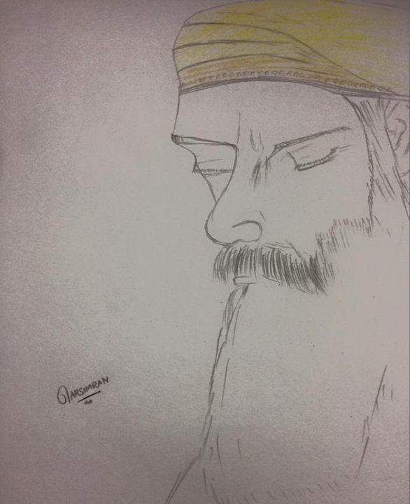 spiritual sketch of guru nank dev ji - Harsimran singh