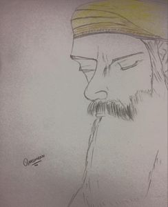 spiritual sketch of guru nank dev ji