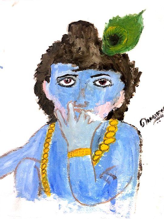 shri krishan ji (GOD) WHEN CHILD - Harsimran singh