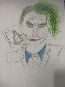 joker and batman sketch - Harsimran singh