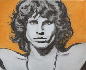 Jim Morrison - Charcoal