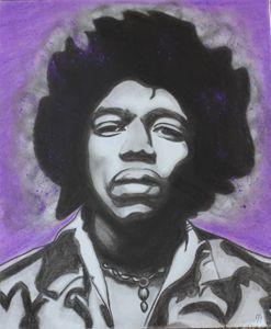 Jimi Hendrix - Charcoal