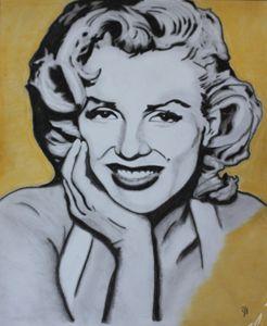 Marilyn Monroe - Charcoal