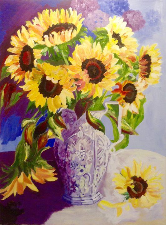 Sun flower - Shaida Shad Fine Art Gallery