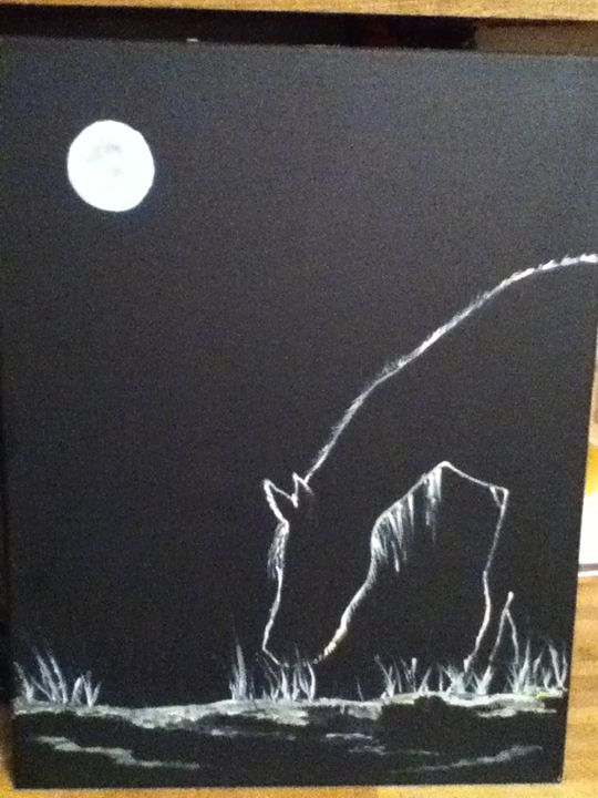 Horse in the Moonlight - Kelly's Kreations