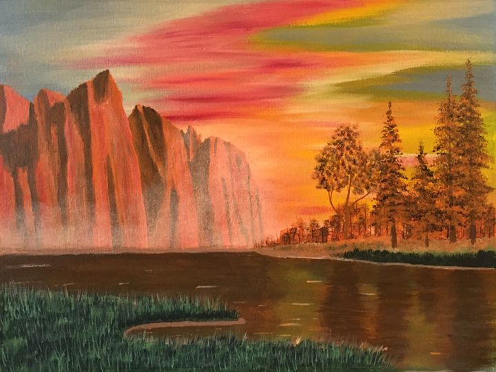 Yosemite valley at sunset - Art by johan van der Spuy