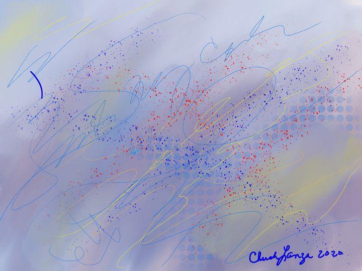 Blue mellow abstract - Digital Art by Chuck Lanza