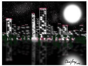 Unknown city night-scape