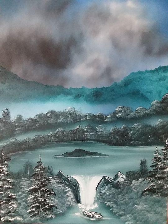 A Merrill creek waterfall - Paintings by Penrose