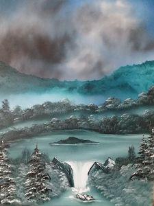A Merrill creek waterfall