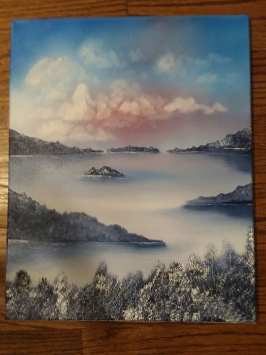 Early winter on the river - Paintings by Penrose