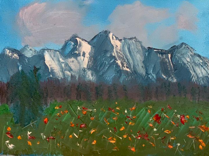 Mountain and wild flowers - Ian Scott Patterson