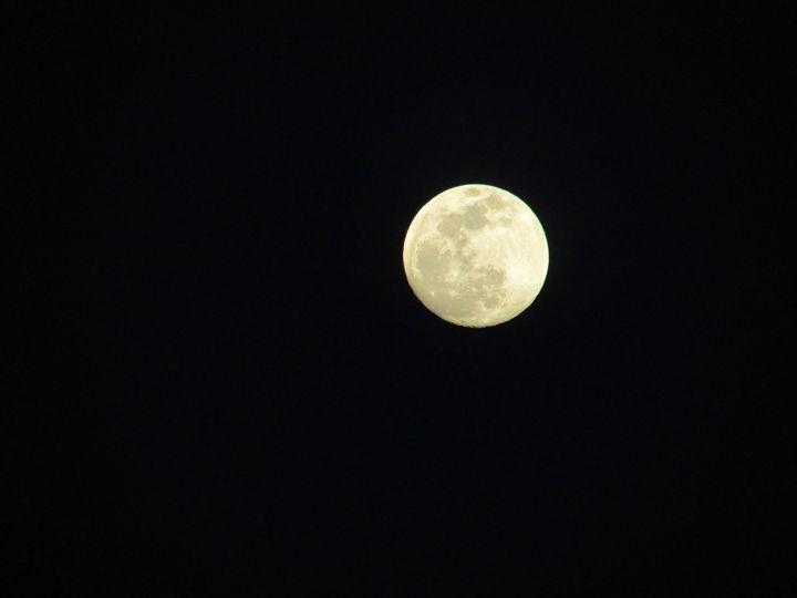 Full Moon - greece on canvas