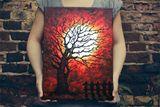 The sunset tree - Original acrylic p