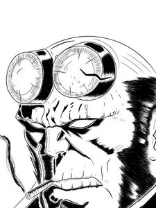 Lineart Hellboy