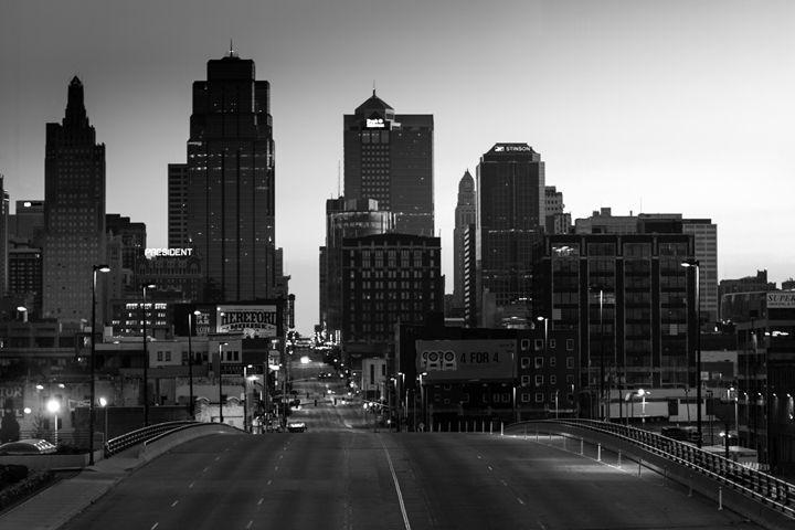 Kansas City Skyline in the morning - Artwork